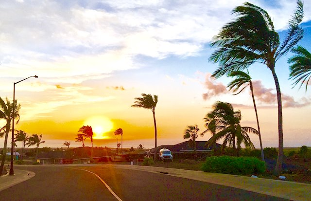 Makai Vistas at Waikoloa, Sunsets are the perfect ending to a full fun day on the island!
